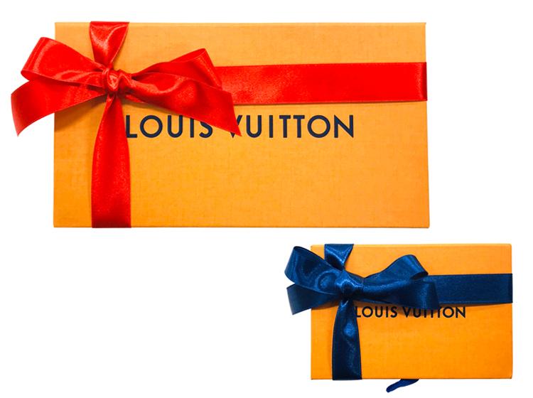 ルイ・ヴィトンなどブランド化粧箱のギフトラッピング