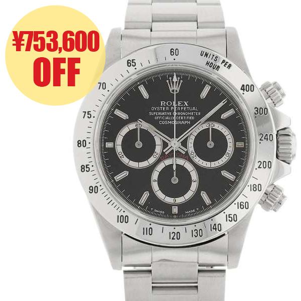 ロレックス コスモグラフ デイトナ N番 16520 ROLEX 腕時計 ウォッチ クロノグラフ 黒文字盤【安心保証】【中古】