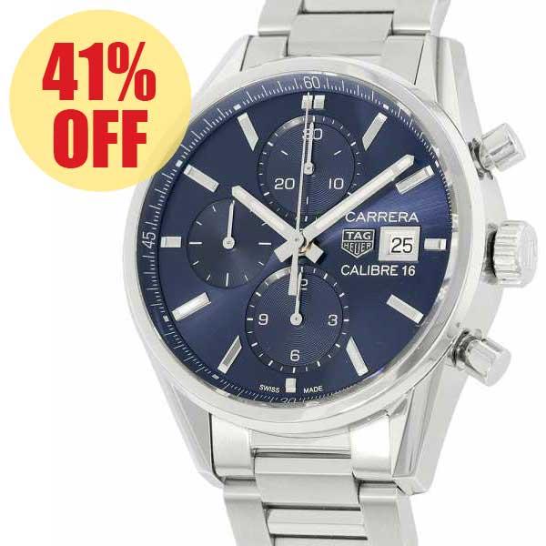 タグホイヤー カレラ クロノグラフ キャリバー16 CBK2112.BA0715 TAGHEUER 腕時計 ウォッチ ブルー文字盤