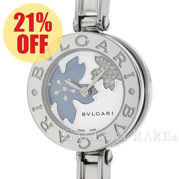 ブルガリ ビーゼロワン B-Zero 1 バングルウォッチ ダイヤモンド シェル BZ22FDSS BVLGARI 腕時計 レディース【中古】