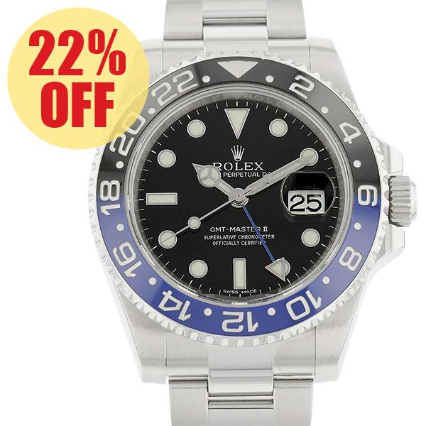 ロレックス GMTマスター2 デイト ランダムシリアル ルーレット 116710BLNR ROLEX 腕時計 ウォッチ【安心保証】【中古】