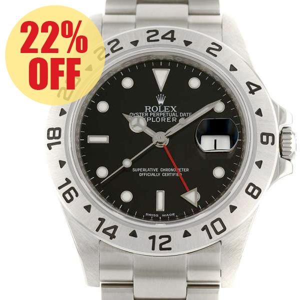 ロレックス エクスプローラー2 G番 ルーレット 16570 ROLEX 腕時計【安心保証】【中古】