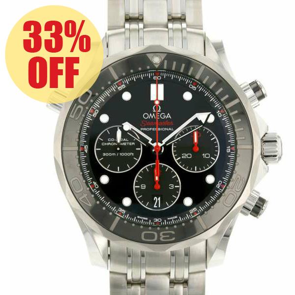 オメガ シーマスター ダイバー 300m コーアクシャル クロノグラフ 212.30.44.50.01.001 OMEGA 腕時計 ウォッチ 黒文字盤