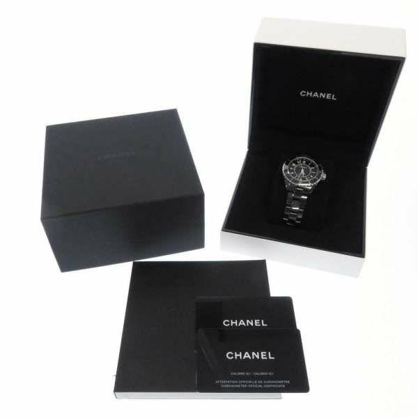 シャネル J12 ブラック セラミック H5697 CHANEL 腕時計 ウォッチ 黒文字盤