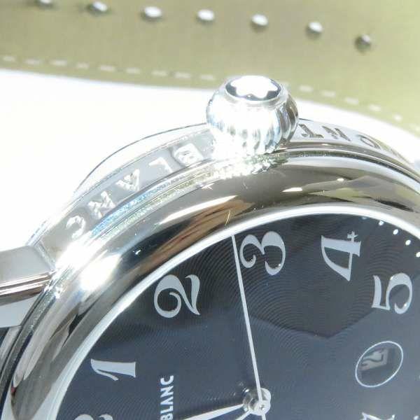 モンブラン スター デイト 102136 MONTBLANC 腕時計 黒文字盤 クォーツ