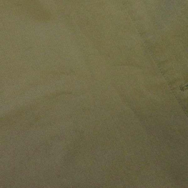 エルメス トレンチコート レディースサイズ34 オリーブ コットン HERMES ステンカラーコート カーキ ロングコート