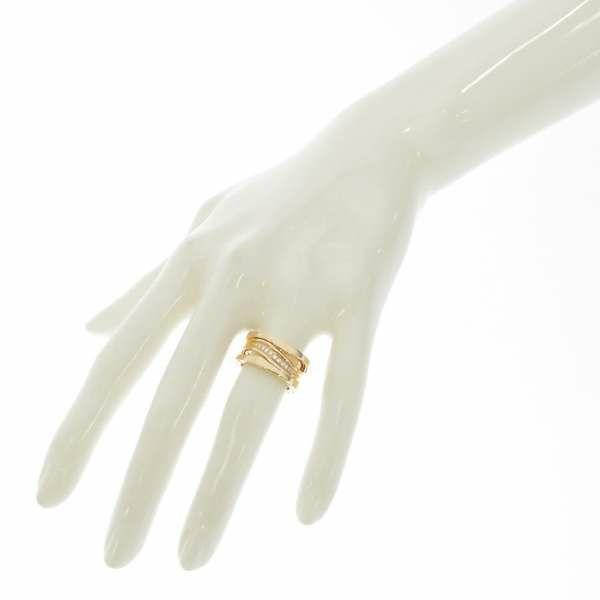 ブルガリ リング B-ZERO1 ビーゼロワン・レジェンド ダイヤモンド 0.16ct K18PGピンクゴールド リングサイズ50 355150 BVLGARI 指輪 ジュエリー ダイヤ