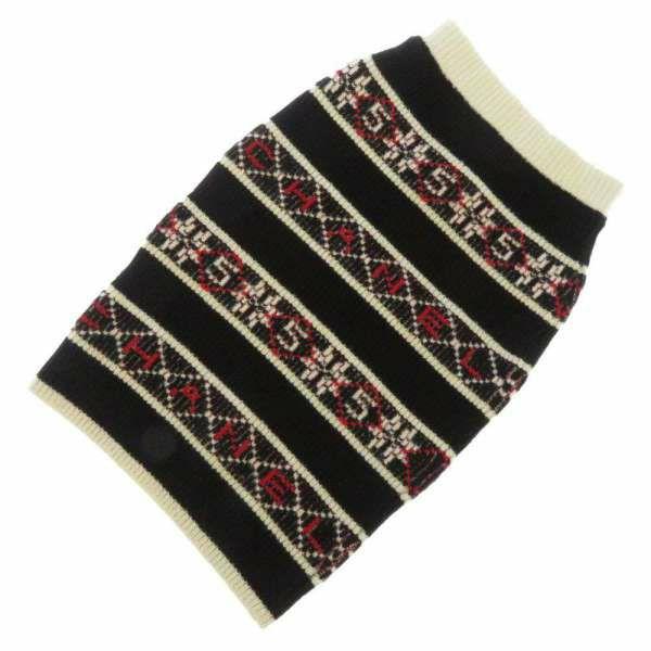 シャネル スカート ニット ロゴ レディースサイズ34 P62546 CHANEL 服 アパレル カシミヤ