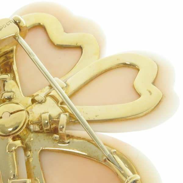 ヴァンクリーフ&アーペル ブローチ ノエル ダイヤモンド 1.60ct/コーラル K18YGイエローゴールド Van Cleef & Arpels ジュエリー アクセサリー 珊瑚