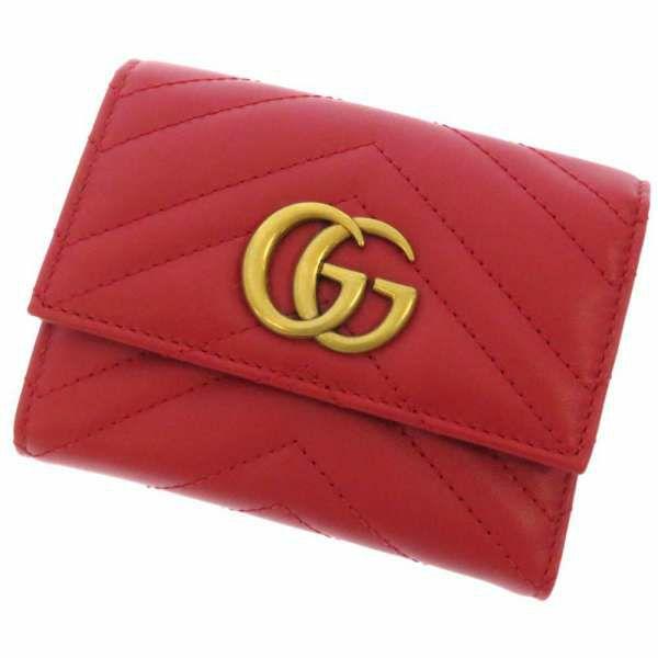 グッチ 三つ折り財布 GGマーモント コンパクトウォレット