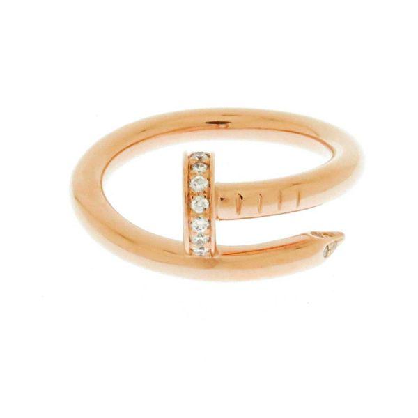 カルティエ リング ジュスト アン クル K18PGピンクゴールド ダイヤモンド