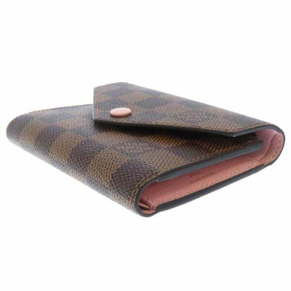 ルイヴィトン 三つ折り財布 ダミエ・エベヌ ポルトフォイユ・ヴィクトリーヌ N61700 LOUIS VUITTON ヴィトン 財布
