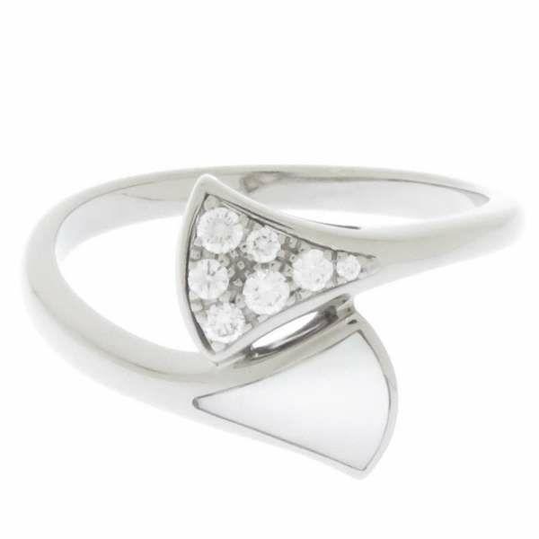 ブルガリ リング ディーヴァドリーム リング K18WGホワイトゴールド ダイヤモンド マザーオブパール リングサイズ53 353829 BVLGARI ジュエリー 指輪