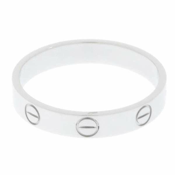 カルティエ リング ミニラブリング Pt950プラチナ リングサイズ56 B4085300 B4085356 Cartier ジュエリー 指輪