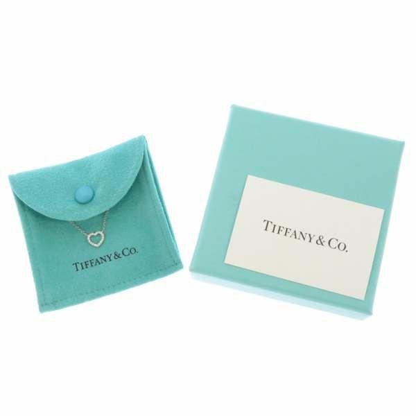 ティファニー ネックレス ハート ペンダント K18WGホワイトゴールド ダイヤモンド エクストラミニ Tiffany&Co. ジュエリー