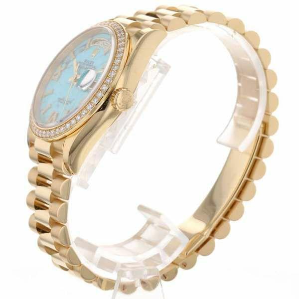 ロレックス デイデイト K18YGイエローゴールド ダイヤベゼル ランダムシリアル ルーレット 128348RBR ROLEX 腕時計