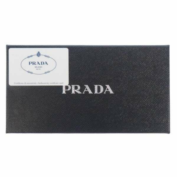 プラダ 長財布 DAINO COLOUR ラウンドファスナー長財布 1ML506 PRADA 財布 ロゴ 黒