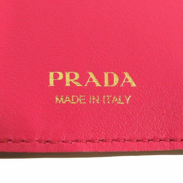 プラダ 財布 コンパクト ウォレット 1MV204 PRADA 二つ折り財布 バイカラー