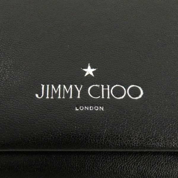 ジミーチュウ 三つ折り財布 ロルフ 札入れ JIMMY CHOO 財布 メンズ 黒 チェーン付き