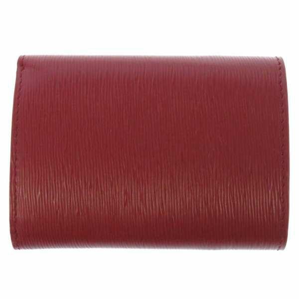 プラダ 三つ折り財布 レッド レザー 1MH021 PRADA コンパクトウォレット 折りたたみ 赤