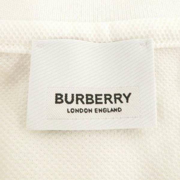 バーバリー ポロシャツ アイコンストライプ プラケット コットンピケ メンズサイズM 8017004 BURBERRY 服 アパレル 白 2021春夏