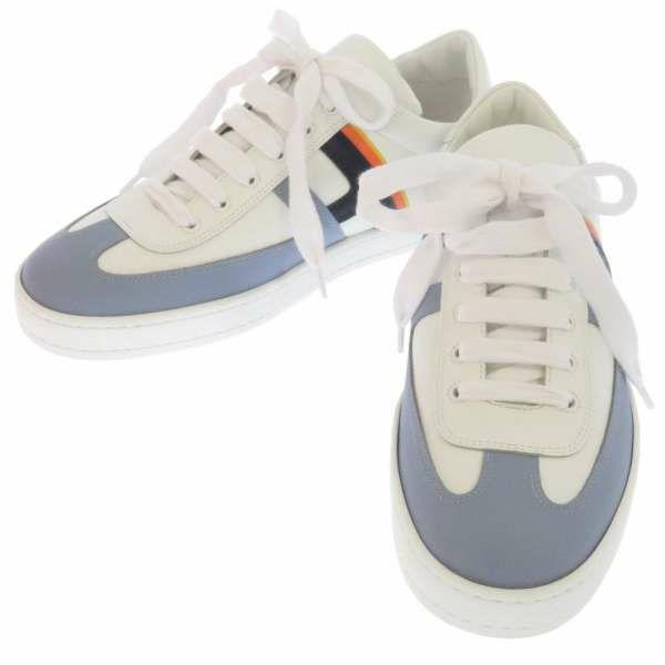 エルメス スニーカー ブーメラン Hロゴ メンズサイズ39 1/2 HERMES 靴 白