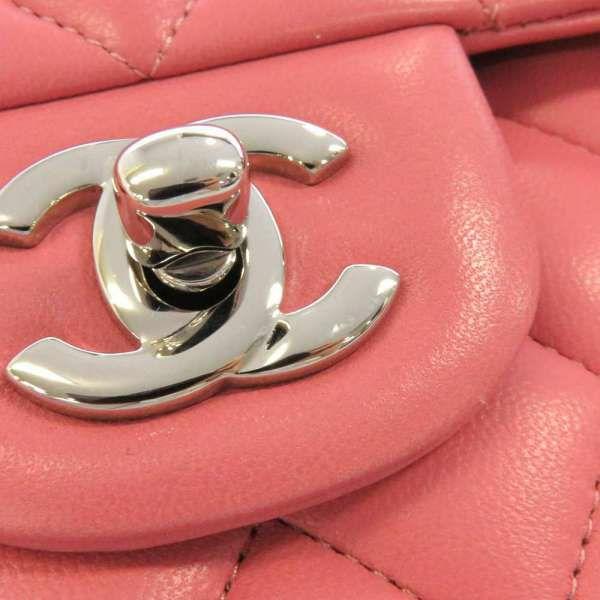 シャネル チェーンショルダーバッグ マトラッセ25 ココマーク ラムスキン ダブルチェーン A01112 CHANEL バッグ ピンク
