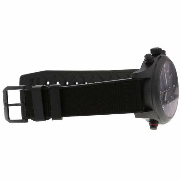 IWC パイロットウォッチ ダブルクロノ トップガン IW371815  腕時計 黒文字盤