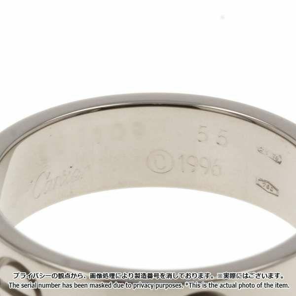 カルティエ ラブリング K18WGホワイトゴールド サイズ55 B4084700 B4084755 Cartier 指輪 ジュエリー