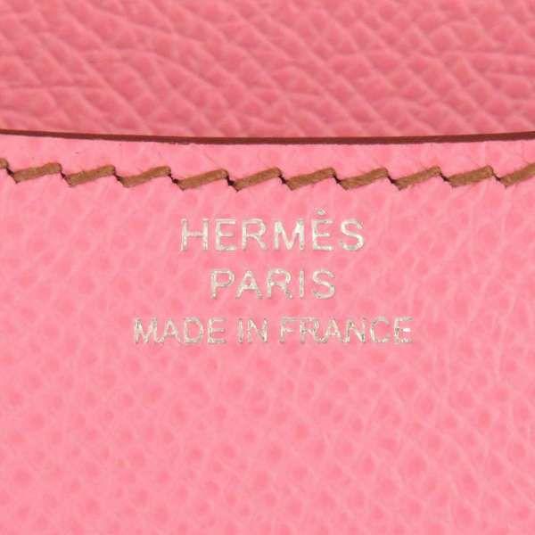 エルメス ショルダーバッグ ミニ コンスタンス3 ピンク/シルバー金具 ヴォーエプソン Z刻印 HERMES Constance