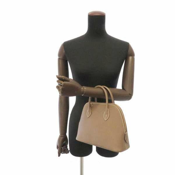 エルメス ハンドバッグ ボリード1923 25 エトゥープ/ゴールド金具 ヴォーエプソン Z刻印 HERMES Bolide 2wayバッグ