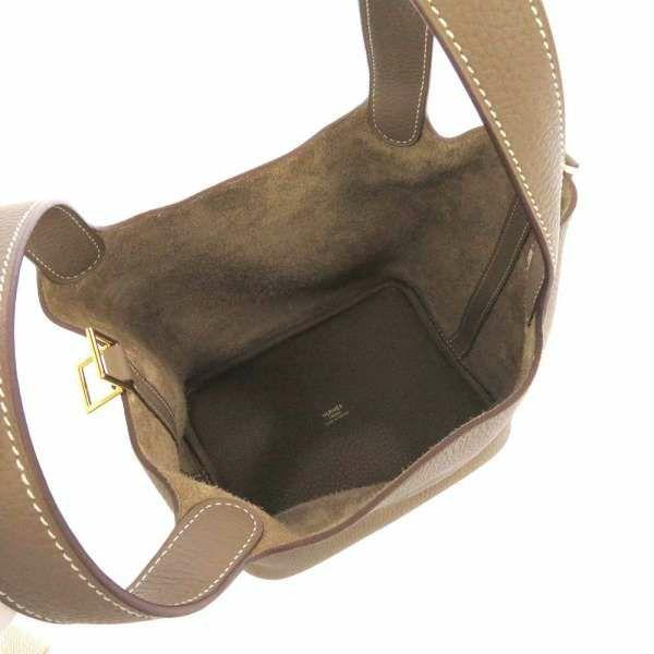 エルメス ハンドバッグ ピコタンロックPM エトゥープ/ゴールド金具 トリヨンクレマンス D刻印 HERMES トートバッグ