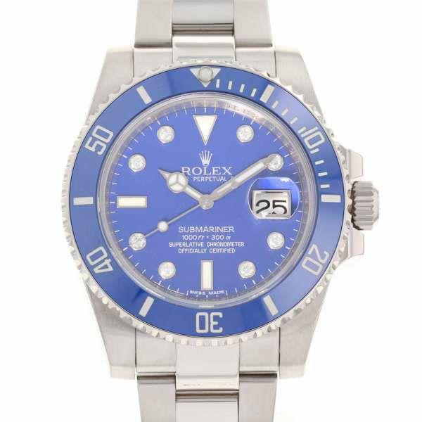 ロレックス サブマリーナ デイト ランダムシリアル ルーレット K18WG 116619GLB ROLEX 腕時計