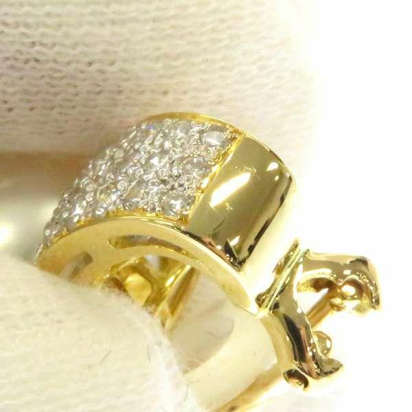 パール イヤリング ダイヤモンド K18YGイエローゴールド ジュエリー アクセサリー 真珠