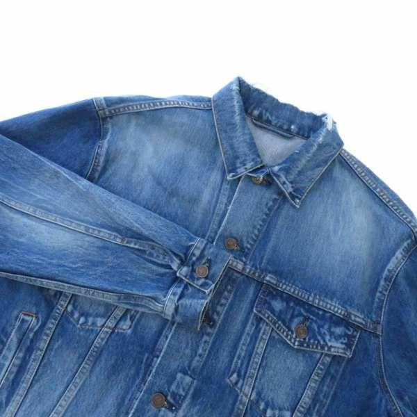 バレンシアガ ジャケット バックロゴ デニムジャケット インディゴ レディースサイズ34 493609 BALENCIAGA 服 アパレル