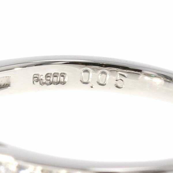 パライバトルマリン リング パライバトルマリン 0.05ct ダイヤモンド 0.34ct Pt900プラチナ リングサイズ13号 ジュエリー 指輪