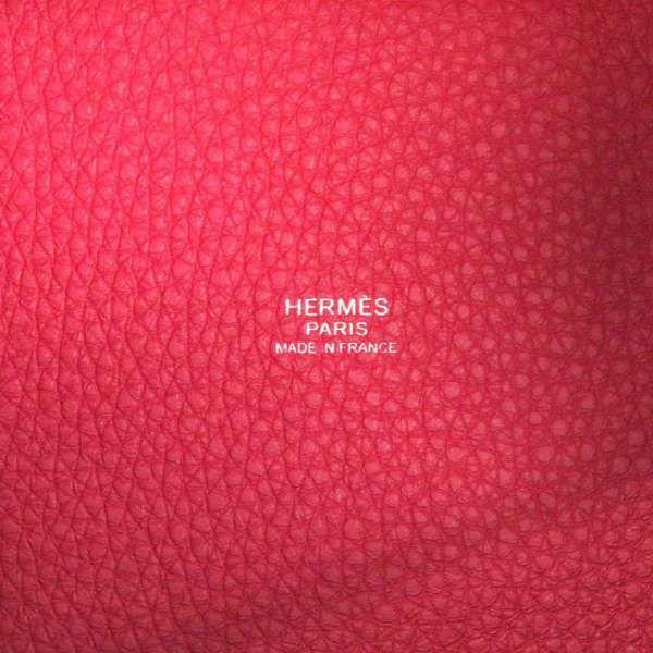 エルメス ハンドバッグ ピコタンロックPM カザック フランボワーズ/ルージュセリエ/シルバー金具 トリヨンクレマンス Z刻印 HERMES トートバッグ