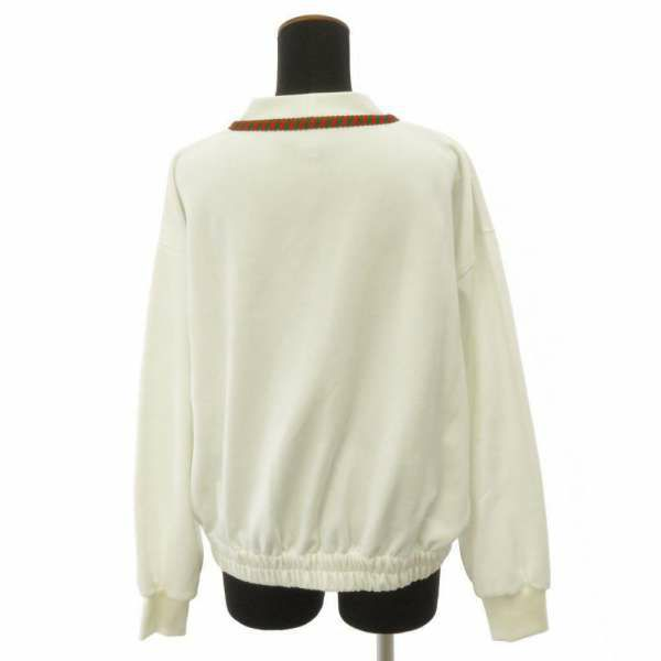 グッチ カーディガン テクニカルジャージー レディースサイズXS 595835 GUCCI 服 アパレル ホワイト 白
