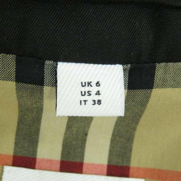 バーバリー コート ホースフェリープリント コットンギャバジン カーコート レディースサイズ36 80299231 BURBERRY 服 アパレル ブラック 黒