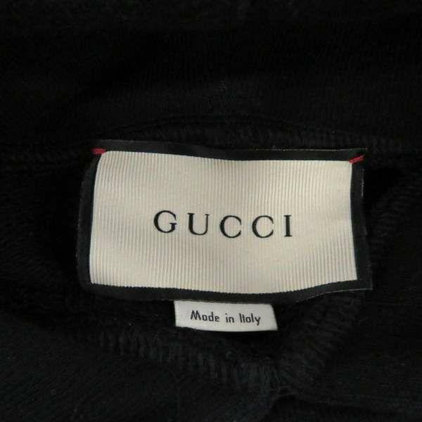 グッチ パーカー ヴィンテージロゴ スパンコール メンズサイズM 469251 GUCCI 服 アパレル ブラック 黒