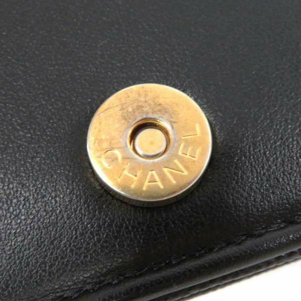 シャネル チェーンウォレット ボーイシャネル マトラッセ ココマーク AP1117 CHANEL 財布 ショルダーバッグ 黒
