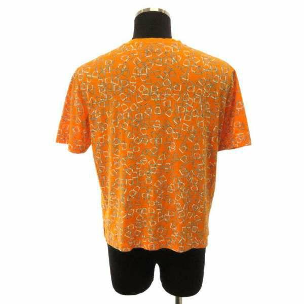 エルメス Tシャツ エトリエ 半袖 オレンジ メンズサイズM HERMES アパレル トップス