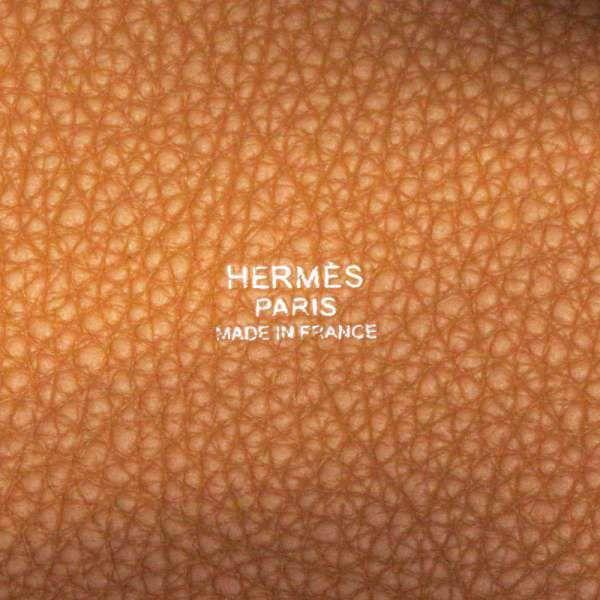 エルメス ハンドバッグ ピコタンロックPM エクラ ゴールド/ブルーブリュム/シルバー金具 トリヨンクレマンス/ヴォースイフト Z刻印 HERMES トートバッグ