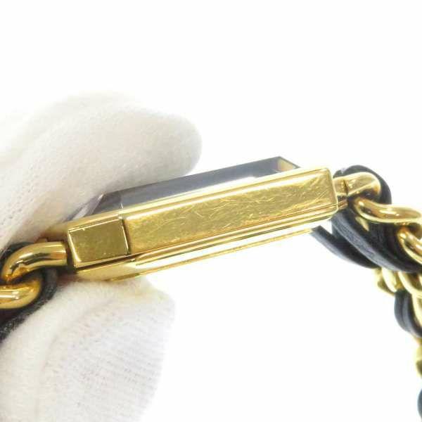 シャネル プルミエール M H0001 CHANEL 腕時計 レディース 黒文字盤 クォーツ