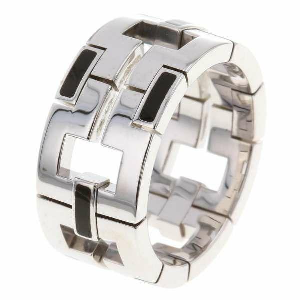 カルティエ リング ドラゴンパドロック K18WGホワイトゴールド オニキス リングサイズ60 Cartier ジュエリー 指輪