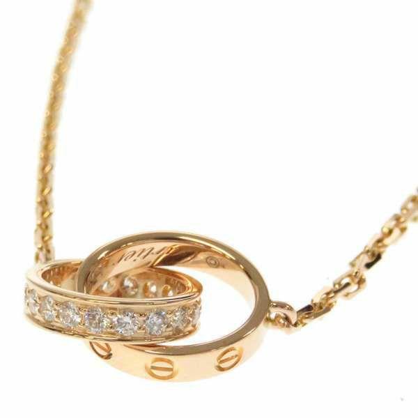カルティエ ネックレス ベビーラブネックレス  ハーフダイヤ ダイヤモンド 18P 0.22ct K18PGピンクゴールド B7013900 Cartier ジュエリー