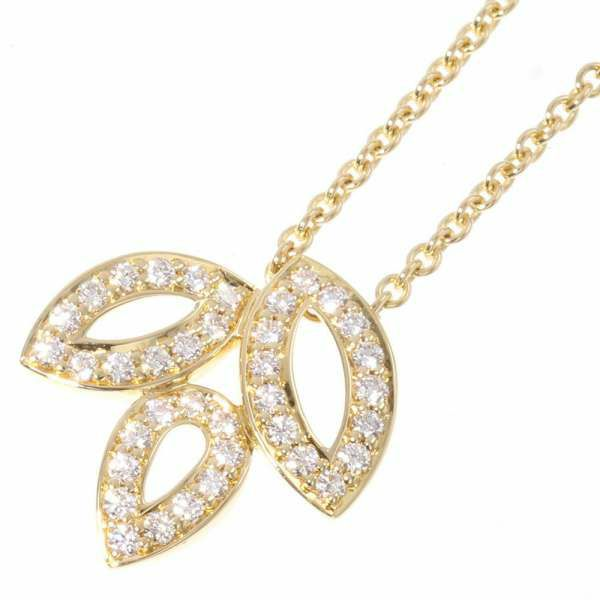 ハリーウィンストン ネックレス リリークラスター ミニペンダント ダイヤモンド 37P 計約0.19ct K18YGイエローゴールド PEDYSM1MLC HARRY WINSTON ジュエリー