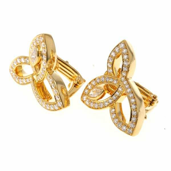ハリーウィンストン イヤリング リリークラスター ダイヤモンド 0.68ct K18YGイエローゴールド EADYMQRFLC HARRY WINSTON ジュエリー
