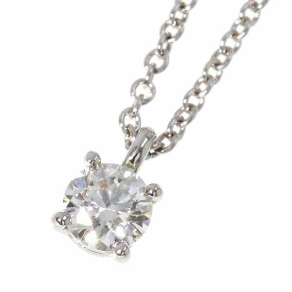 ティファニー ネックレス ソリティア ダイヤモンド 1P 0.20ct Pt950プラチナ Tiffany&Co. ジュエリー ペンダント ダイアモンド