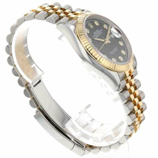 ロレックス デイトジャスト36 K18YGイエローゴールド ダイヤモンド 10Pダイヤ ランダムシリアル ルーレット 126233G ROLEX 腕時計 黒文字盤